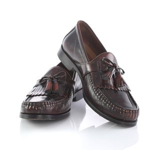 Johnston Murphy  Burgundy  Kiltie Tassel Loafers